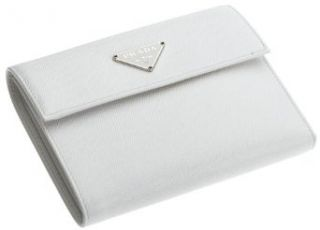 Prada Womens Wallet, Bianco Clothing