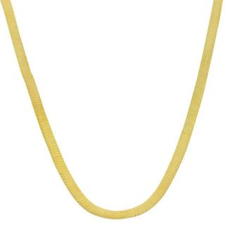 10k Two tone Gold 20 inch Reversible Herringbone Chain Necklace (3 mm