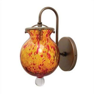 LBL Lighting HW174AMBZ2H50 Annie Italian Blown Glass Wall