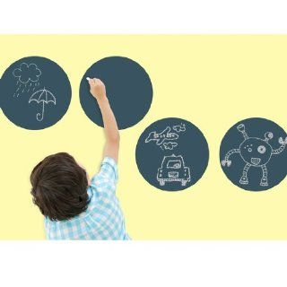 WallCandy Big Chalkboard Circles Wall Stickers Baby