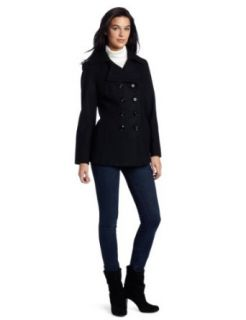 Ak Anne Klein Womens Double Breasted Wool Coat Clothing