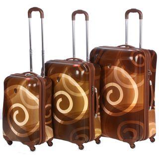 Heys USA Retro 3 Piece Hardside Spinner Luggage Set