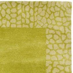 Handmade Soho Green New Zealand Wool Rug (36 x 56)