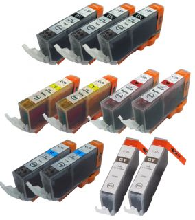 Canon CLI 221 Compatible Black / Colors Ink Cartridge (Pack of 11