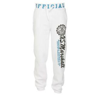 US MARSHALL Pantalon de Survêtement Homme Blanc, bleu et noir   Achat