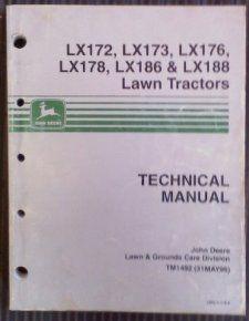 John Deere Lawn Tractors Technical Manual (LX 172, LX173, LX176, LX178