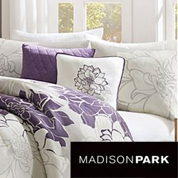 Madison Park Bridgette Floral pattern Cotton 7 piece Comforter Set