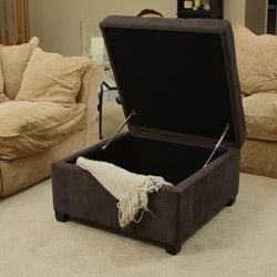 Richmond Dark Grey Linen Storage Ottoman
