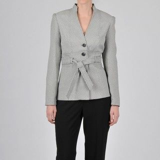 Signature by Larry Levine Womens Geometric Pant Suit