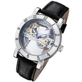 Rougois Automatic Skeleton Watch with Bridge Mechanical Movement