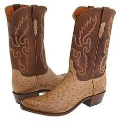 Lucchese N1061 5/4 Tan Burnished Ostrich Boots