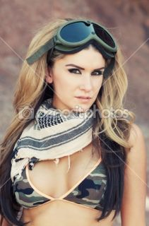 Beautiful sexy army girl  Stock Photo © Paul Hill #13342141