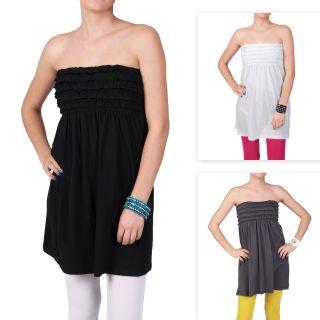 Journee Collection Juniors Sleeveless Smocked Tunic Dress
