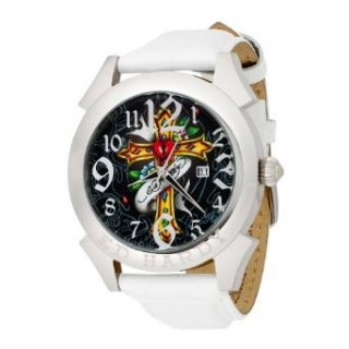 Ed Hardy Mens RE CR Revolution Cross Watch Watches