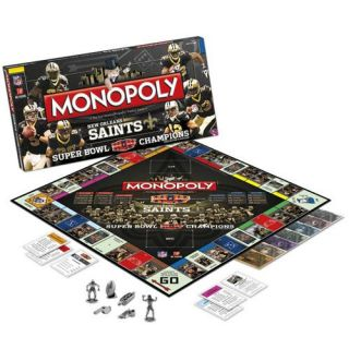New Orleans Saints Super Bowl XLIV Champions Monopoly Game