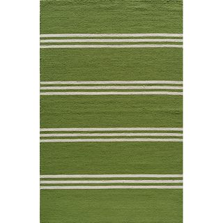 Indoor/ Outdoor South Beach Lime Stripes Rug (8 x 10)