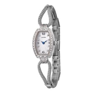 Concord Womens Soiree 18k White Gold Quartz Diamond Watch