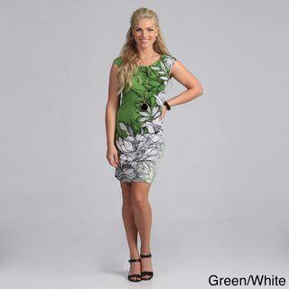 London Times Matte Jersey Floral Print Dress