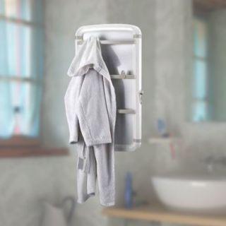 Sèche serviettes 450 w blanc panneau pivotant   3 barres porte