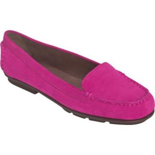 Womens Aerosoles Nu Day Pink Cow Suede