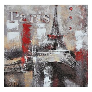 Paradis Memories of Paris Hand painted Canvas Art