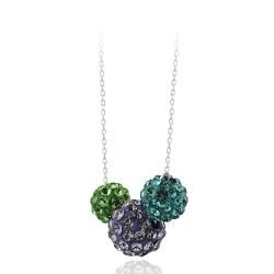 Icz Stonez Sterling Silver And Crystal Fireball Necklace
