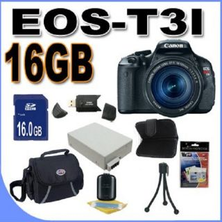 Canon EOS T3i 18MP Digital SLR Camera with 18 135mm Lens/ 16GB Bundle