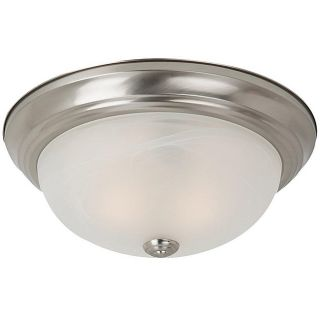 Windgate 3 light Brushed Nickel Fluorescent Flush Mount Fixture Today
