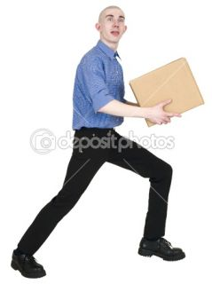Man holding cardboard box  Stock Photo © pz.axe #1020215