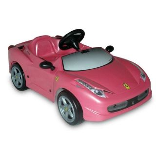 Toys Toys   Ferrari F458 Spider électrique Rose Electrique 6V   Fille