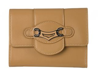 Tods Medium Camel Leather Tri fold Wallet