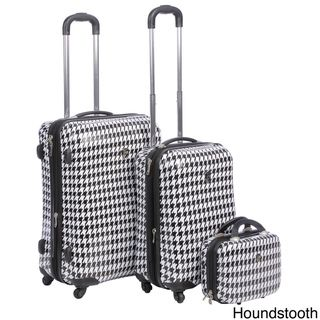 Heys USA Exotic 3 piece Hardside Spinner Luggage Set
