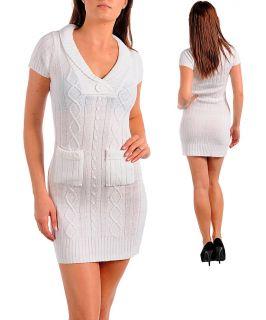 Stanzino Womens White Sweater Dress
