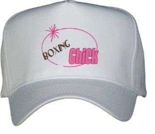 BOXING Chick White Hat / Baseball Cap Clothing