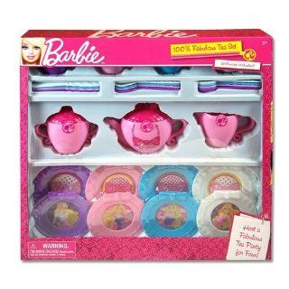 Barbie 29 Piece Toy Tea Set Service for 4: Toys & Games
