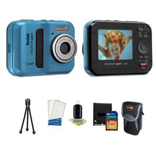 Kodak Easyshare Sport C123 Waterproof 12MP Blue Digital Camera with