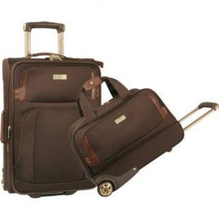 Tommy Bahama Harbor 2 Piece Luggage Set (Brown) Clothing
