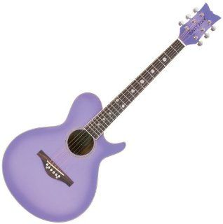 Daisy Rock WildWood Acoustic Short Scale Guitar, Purple