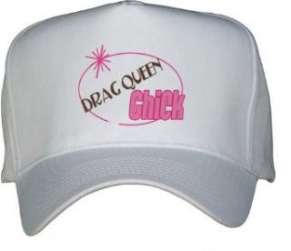 DRAG QUEEN Chick White Hat / Baseball Cap Clothing