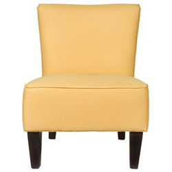 angeloHOME Davis Golden Yellow Armless Chair