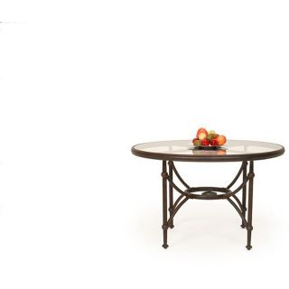 Santorini 48 inch Glass Top Round Dining Table
