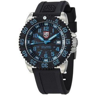 Luminox Mens Colormark Black Dial Rubber Strap Steel Watch