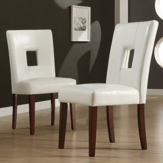 ETHAN HOME Alsace White Faux Leather Side Chairs (Set of 2) Today $