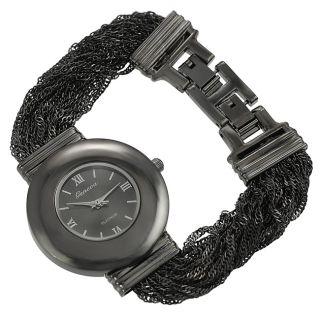 Geneva Platinum Womens Multi strand Link Watch