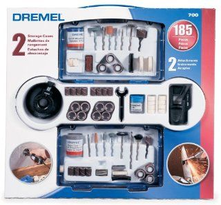 Dremel 700 01 185 Piece Rotary Tool Accessory Kit