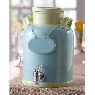 American Atelier Blue/ Ivory 240 ounce Ceramic Beverage Dispenser