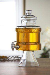 Footed Urn Glass Beverage Dispenser 185 Ounce