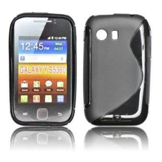 Coque Samsung Galaxy Y S5360 sline noire   Achat / Vente HOUSSE COQUE