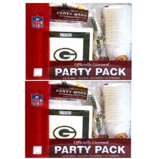 Green Bay Packers 24 piece Party Pack (Set of 2)