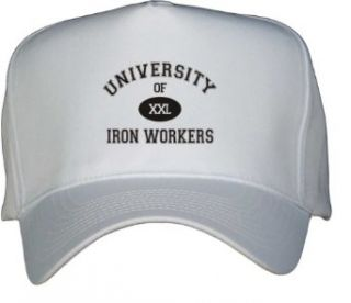 UNIVERSITY OF XXL IRON WORKERS White Hat / Baseball Cap
